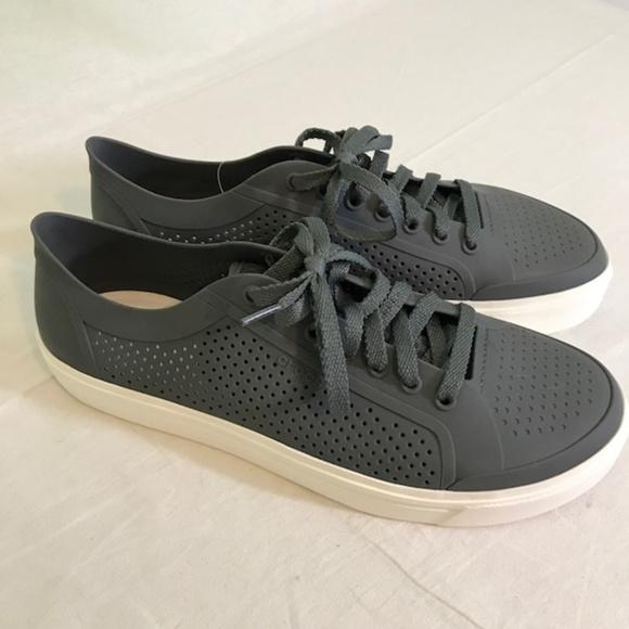 CROCS Shoes   Crocs Mens Gray Lace Up